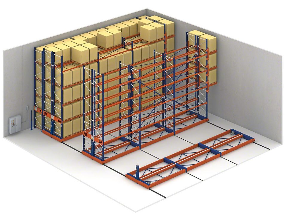 Mobile Pallet Racking Illustration