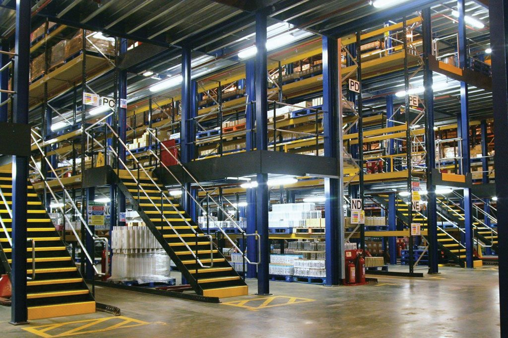 Multi-tier Mezzanine Floor
