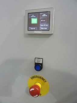 Control panel with small touch screen