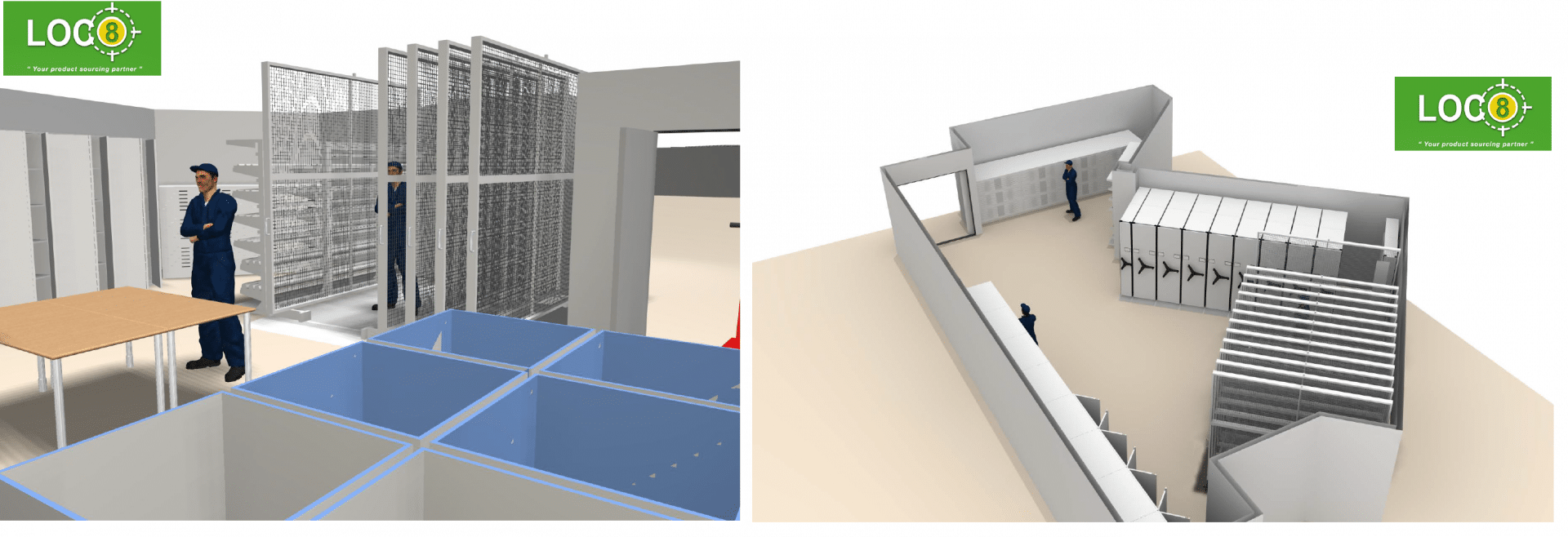 Warehouse Design 3D Visualization
